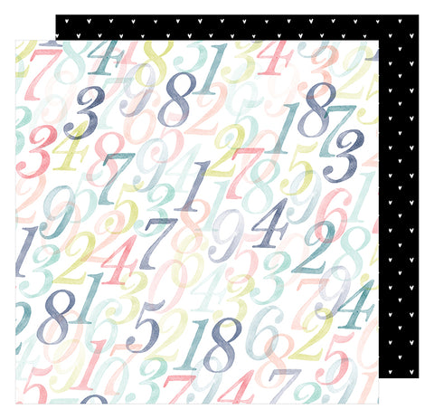 American Crafts Papers - Dear Lizzy - Lovely Day - Counting Up - 2 Sheets