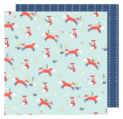 American Crafts Papers - Dear Lizzy - Lovely Day - Foxy Friend - 2 Sheets