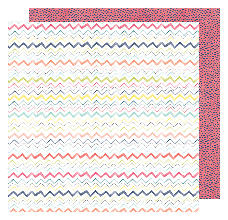 American Crafts Papers - Dear Lizzy - Lovely Day - More Friday - 2 Sheets