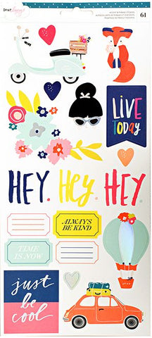 American Crafts Cardstock Stickers - Dear Lizzy - Lovely Day
