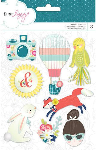American Crafts 3D Stickers - Dear Lizzy - Lovely Day