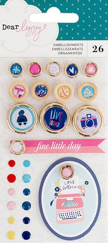 American Crafts Embellishments - Dear Lizzy - Lovely Day - Assorted