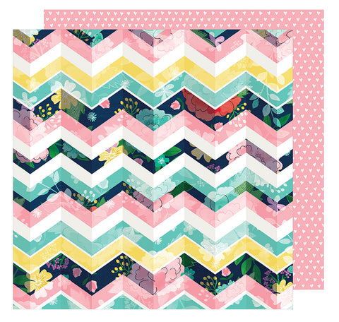American Crafts Papers - Shimelle - Little By Little - Lil' Bit Lovely - 2 Sheets