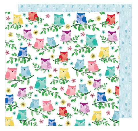 American Crafts Papers - Shimelle - Little By Little - Birds of a Feather - 2 Sheets