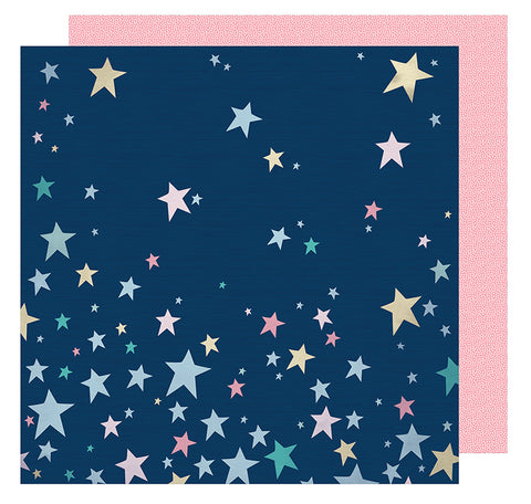 American Crafts Papers - Shimelle - Little By Little - Shine Bright - 2 Sheets