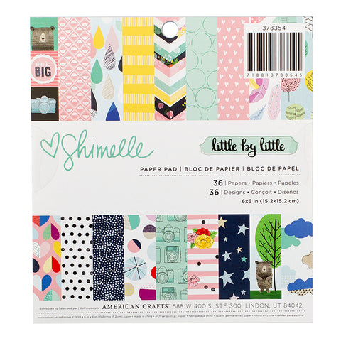 American Crafts 6x6 Paper Pad - Shimelle - Little By Little