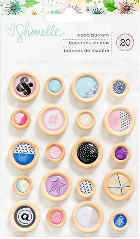 American Crafts Wooden Buttons - Shimelle - Little by Little