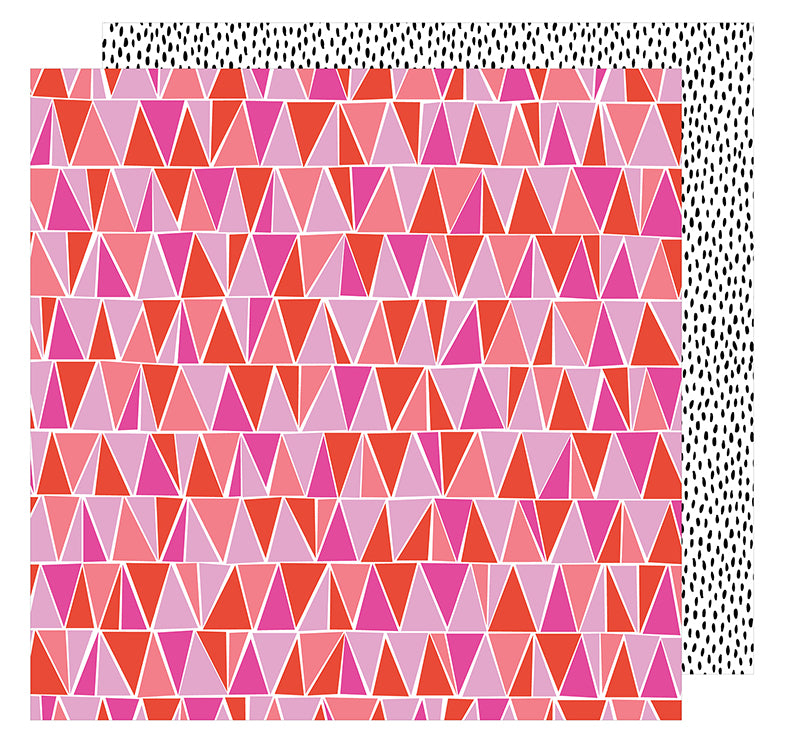 American Crafts Papers - Amy Tangerine - On A Whim - Let's Dance - 2 Sheets