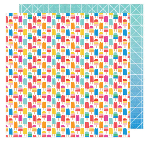 American Crafts Papers - Amy Tangerine - On A Whim - Keep Your Cool - 2 Sheets
