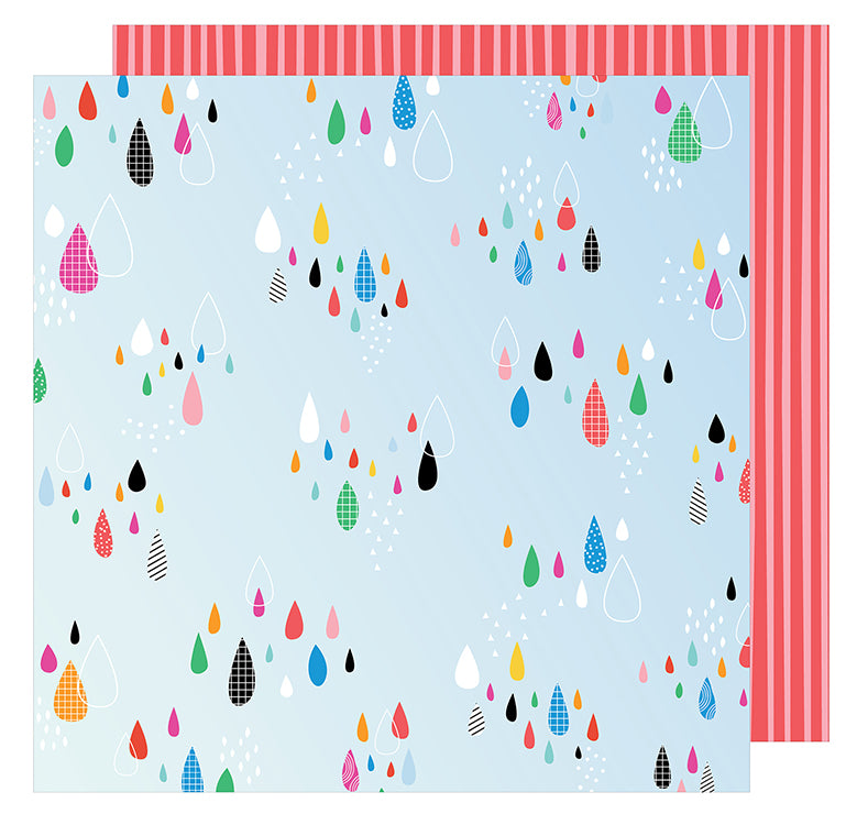 American Crafts Papers - Amy Tangerine - On A Whim - Sprinkle - 2 Sheets