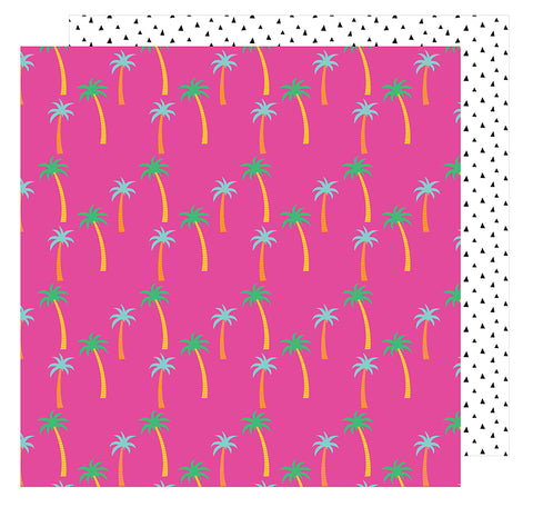 American Crafts Papers - Amy Tangerine - On A Whim - Paradise - 2 Sheets