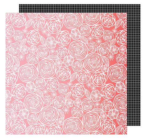 American Crafts Papers - Amy Tangerine - On A Whim - Think Pink - 2 Sheets