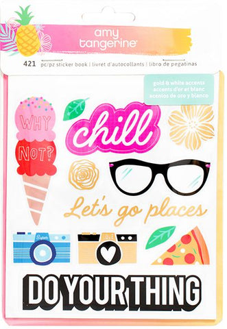 American Crafts Sticker Book - Amy Tangerine - On A Whim