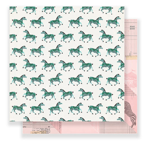 Crate Paper Papers - Maggie Holmes - Carousel - Gallop - 2 Sheets