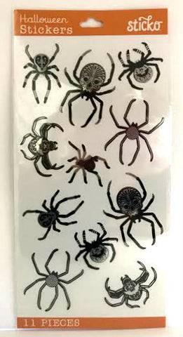 EK Success Sticko Stickers - Black & White Spiders