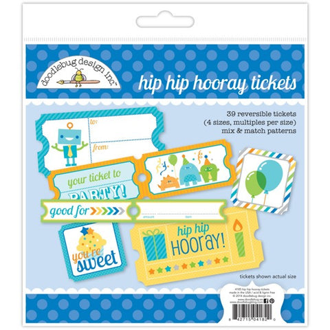 Doodlebug Tickets - Hip Hip Hooray