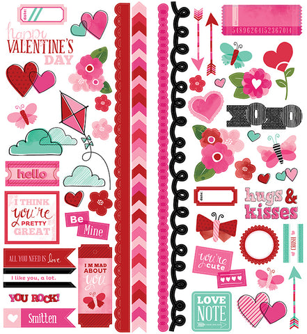 American Crafts Cardstock Stickers - Valentine Accents & Phrases