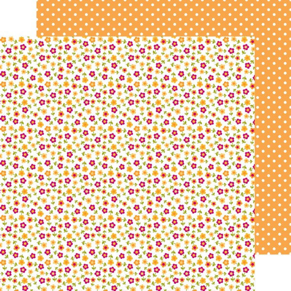 Doodlebug Design Papers - Happy Camper - Field of Flowers - 2 Sheets