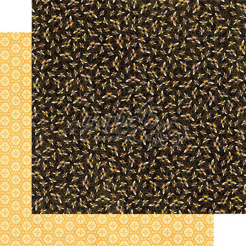 Graphic 45 Papers - Nature Sketchbook - Harmonious Honeybees - 2 Sheets