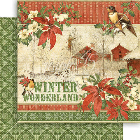 Graphic 45 Papers - Winter Wonderland - Winter Wonderland - 2 Sheets