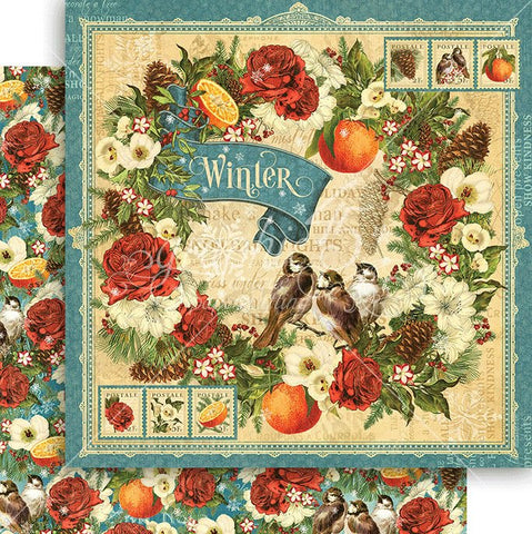 Graphic 45 Papers - Seasons - Winter - 2 Sheets