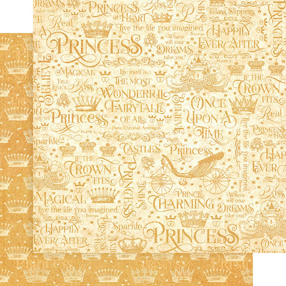 Graphic 45 Papers - Princess - If the Crown Fits - 2 Sheets