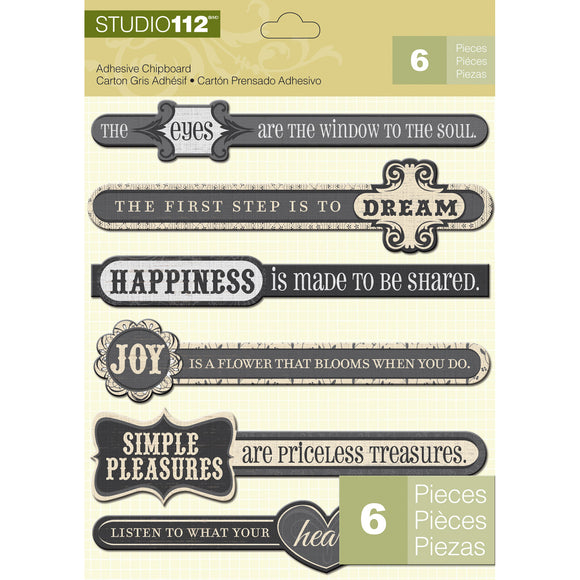 K&Company Studio 112 Adhesive Chipboard - Inspiration
