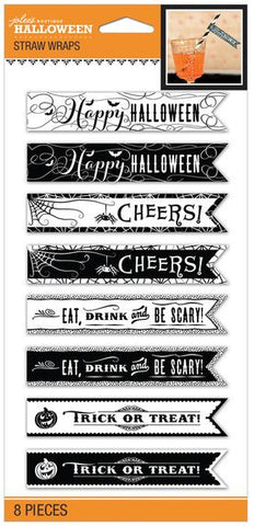 Jolee's Boutique Straw Wraps - Halloween