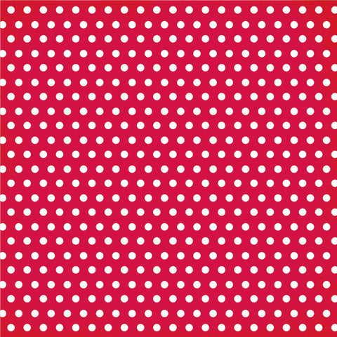 Simple Stories Papers - DIY Boutique - Red Chevron/Dots - 2 Sheets