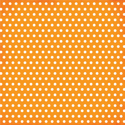 Simple Stories Papers - DIY Boutique - Orange Chevron/Dots - 2 Sheets