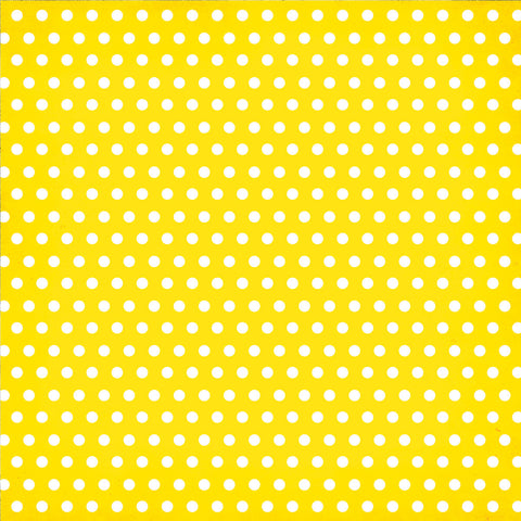 Simple Stories Papers - DIY Boutique - Yellow Chevron/Dots - 2 Sheets