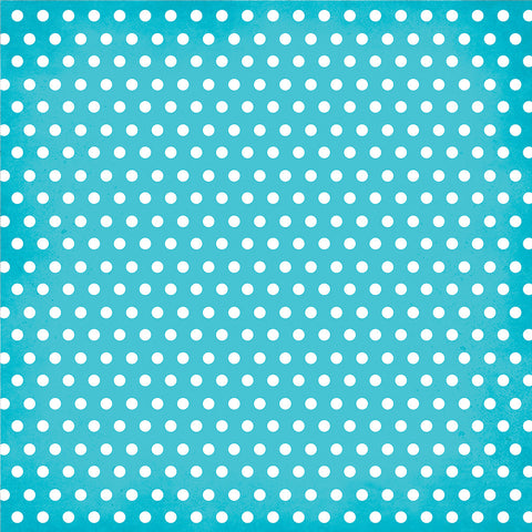 Simple Stories Papers - DIY Boutique - Teal Chevron/Dots - 2 Sheets