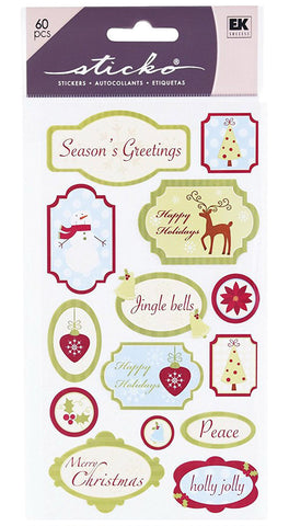 EK Success Sticko Stickers - Season's Greetings