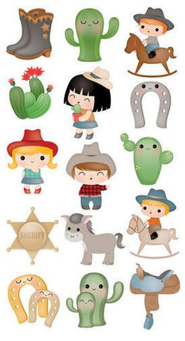 EK Success Sticko Stickers - Cowboy Cuties