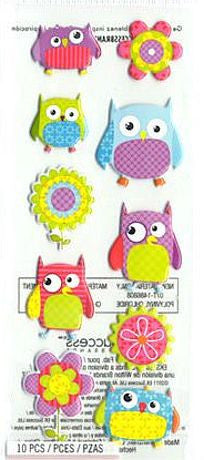 EK Success Sticko Puffy Stickers - Flower Owls