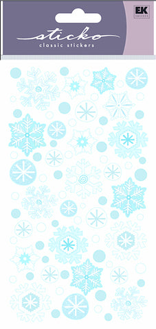 EK Success Sticko Stickers - Winter Snowflakes Glitter