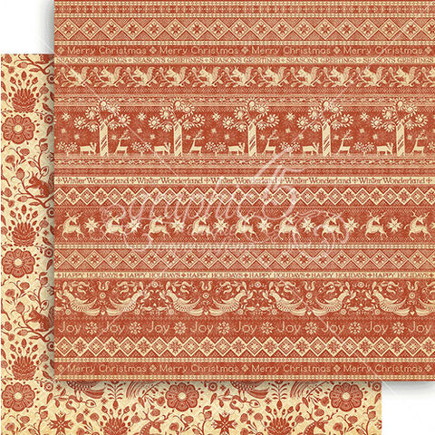 Graphic 45 Papers - Winter Wonderland - Scandinavian Sampler - 2 Sheets