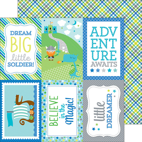 Doodlebug Cut-Outs - Dragon Tails - Viking Plaid