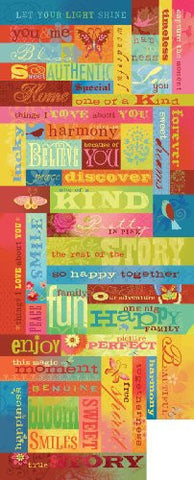 K&Company Embossed Stickers - Brenda Walton - Mira Words & Phrases