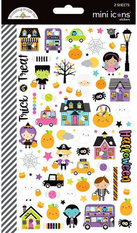 Doodlebug Design Mini Icons Cardstock Stickers - Booville - 2 Sheets