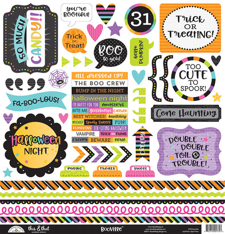 Doodlebug Design 12x12 Cardstock Stickers - Booville - This & That