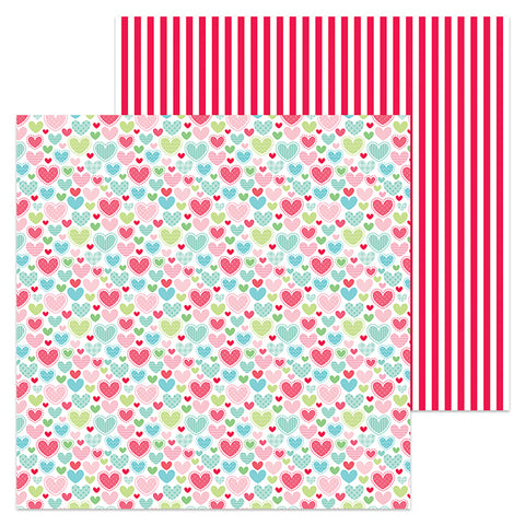 Doodlebug Design Papers - Milk & Cookies - Flannel Jammies - 2 Sheets