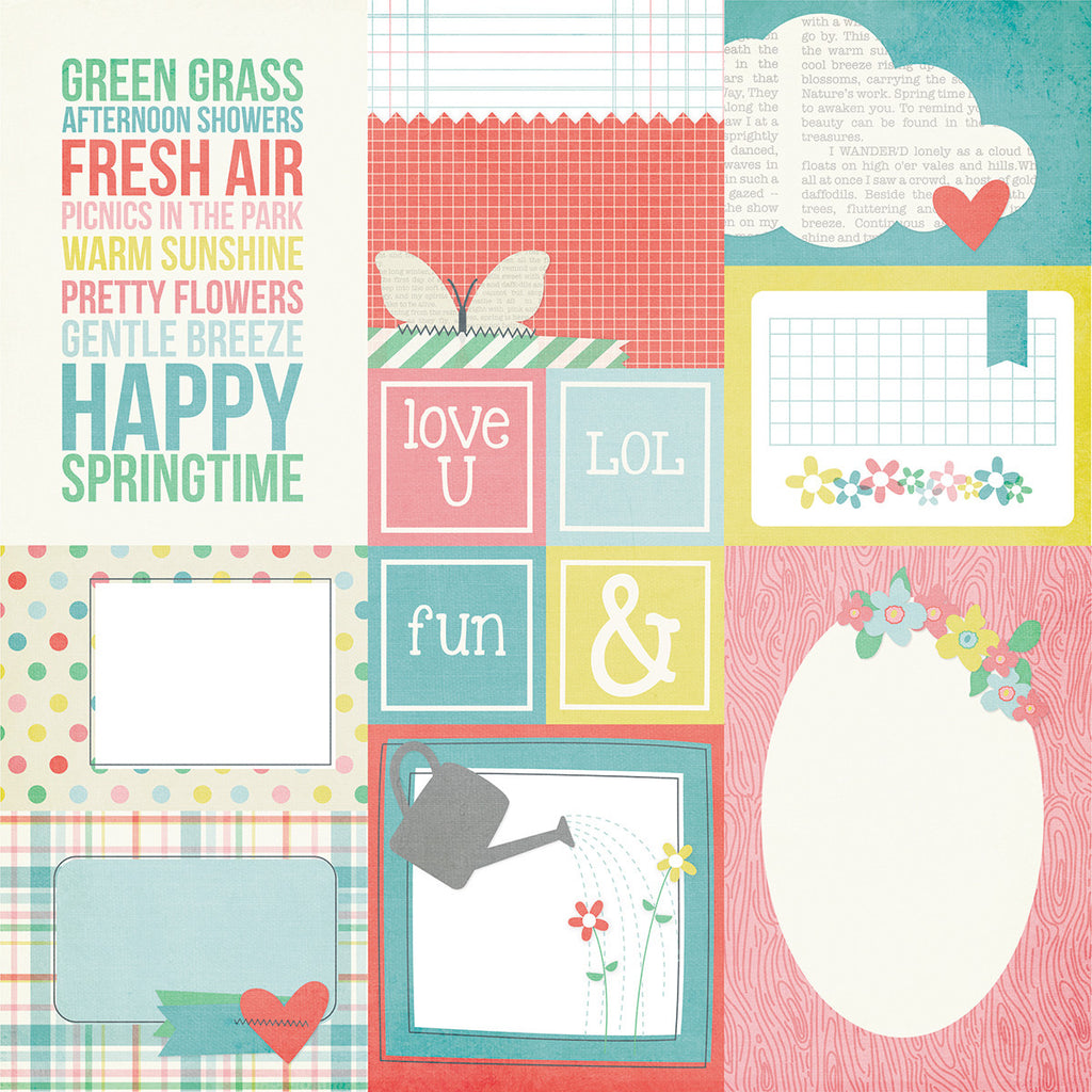 Simple Stories Papers - Fresh Air - Elements #2 - 2 Sheets