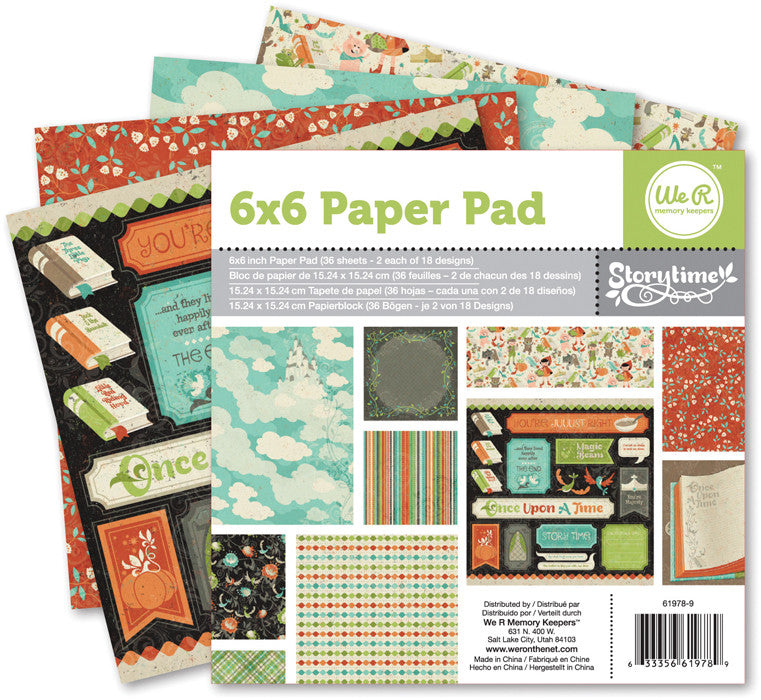 We R Memory Keepers 6x6 Paper Pad - Storytime