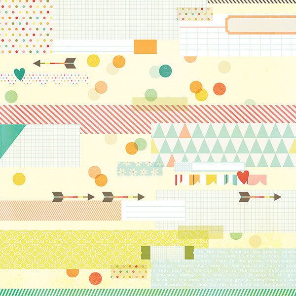 Simple Stories Papers - Summer Vibes - Sun Kissed - 2 Sheets
