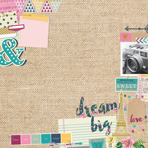 Simple Stories Papers - So Fancy - Mood Board - 2 Sheets