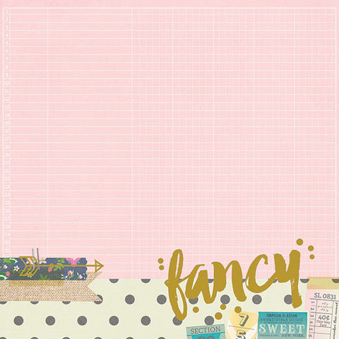 Simple Stories Papers - So Fancy - Fancy - 2 Sheets