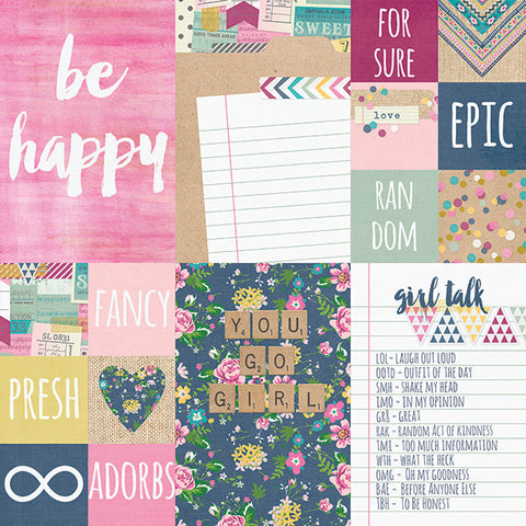 Simple Stories Papers - So Fancy - 2x2 & 4x6 Elements - 2 Sheets