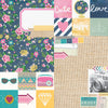 Simple Stories Papers - So Fancy - 2x2 & 6x8 Elements - 2 Sheets
