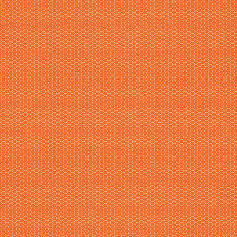 Simple Stories Papers - So Rad - Orange Honeycomb/Code - 2 Sheets